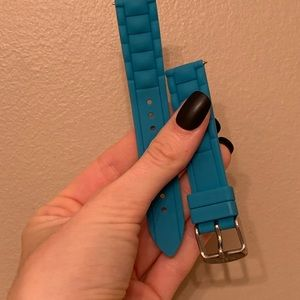 Fossil Blue Silicone 18mm Watch Strap